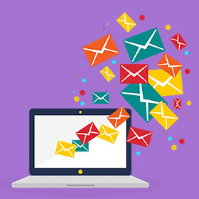 online marketing service email marketing icon click here for email marketing
